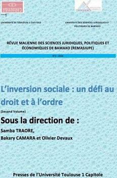 REMASJUPE N°2 : L'INVERSION SOCIALE : UN DÉFI AU DROIT ET À L'ORDRE-VOLUME 2, 2016